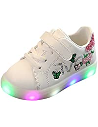 b5a462aa682bf LEvifun Chaussure Baskets Bébé Fille Garçons Chaussure Bébé Fille Premier  Pas LED Lumineuses Sport Chic Chaussures