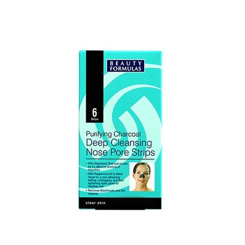 Beauty Formulas Purifying Charcoal Deep Cleansing Nose Pore Strips 6pcs -