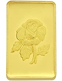 TBZ - The Original 2 gm, 24k(999) Yellow Gold Rose Precious Coin