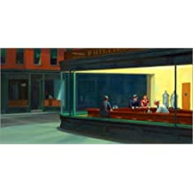 58484ad3c3de9 Posterlounge Lienzo 80 x 40 cm  Nighthawks de Edward Hopper - Cuadro  Terminado
