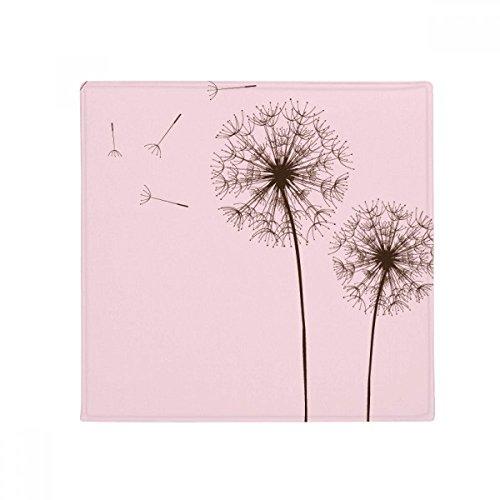 DIYthinker Blume Pflanze Löwenzahn Samen Anti-Rutsch Boden Pet Matte Quadratisch Badezimmer Wohnzimmer Küche Tür 60/50cm Geschenk 50X50cm Mehrfarbig (Blumen-boden-matte)