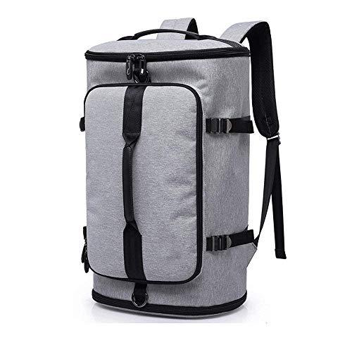 ZXT Herren Reiserucksack Large Capacity Waterproof Oxford Tuch Reise Travel Short-Entfernung im freien Eimer Tasche kann 16-Zoll-Laptop aufnehmen (Farbe : Gray)