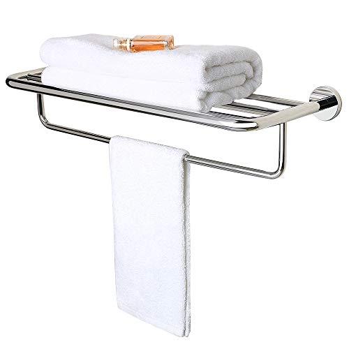 Alise GY8801-C Badetuchhalter, Handtuchhalter mit Handtuchhalter, Wandhalterung aus Edelstahl SUS 304, poliertes Chrom -