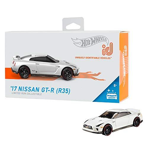 Hot Wheels iD FXB13 - Die-Cast Fahrzeug 1:64 17 Nissan GTR R35 mit NFC-Chip zum Scannen in der Hot Wheels iD App, Auto Spielzeug ab 8 Jahren