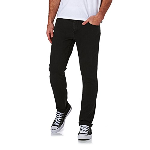 Volcom Herren Men's Vorta Slim Fit Stretch Denim Jean Pullover, Sweater, Ink Black, 36 W / 32 L Volcom-vintage-sweatshirt