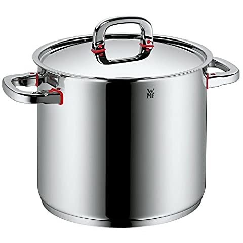 WMF Stock pot Ø 24 cm approx. 8,8l Premium One Inside scaling vapor hole Made in Germany Cool+ Technology metal lid Cromargan stainless steel brushed suitable for all stove tops including induction dishwasher-safe