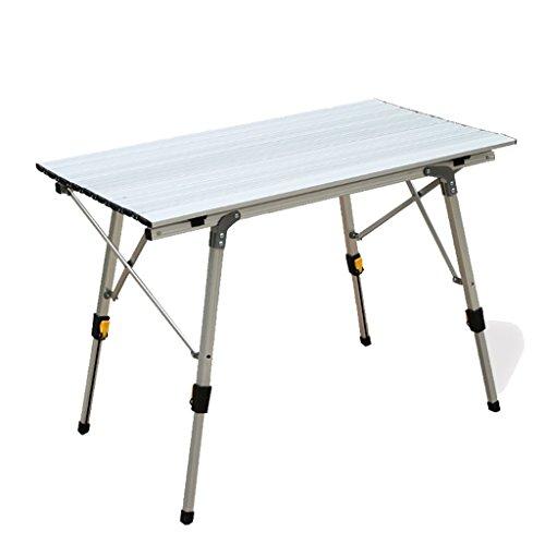 22401cfa0d358 Cqq Table pliante Simple et moderne En alliage d'aluminium extérieur Table  pliante Table de