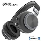 Bass Evolution Latitude Bluetooth 5.0 Wireless Headphones with Microphone, Deep Bass and Noise