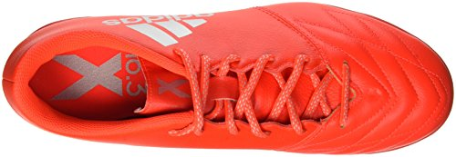 adidas Herren X 16.3 Tf Leather Fußball-Trainingsschuhe Rot (Solar Red/Silver Metallic/Hi-Res Red)
