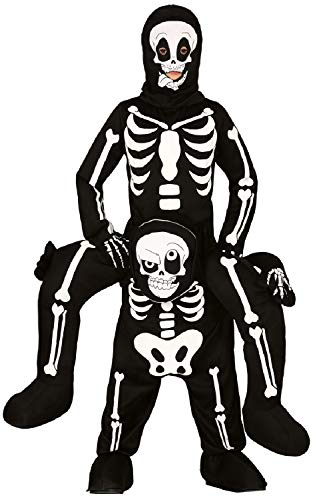 Fancy Me Jungen Mädchen Ride On Step In Gruseliges Skelett Lustig Gruselig Halloween Karneval Kostüm Outfit 5-9 Jahre (Gruselig Lustige Kostüm)
