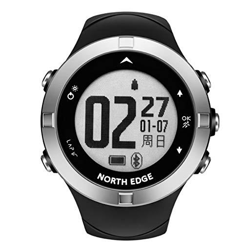 WOB GPS-Laufuhr, Herzfrequenzmessung am Handgelenk, Smart Notifications, Lauffunktionen GPS-Ortung Fitness Tracker Kompass Sport Uhr für Damen Herren