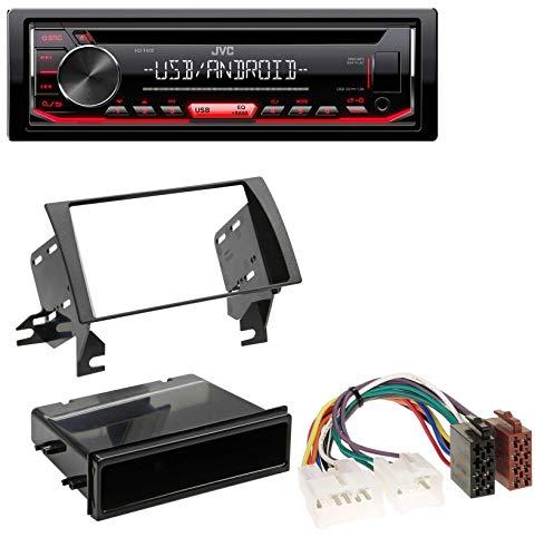 caraudio24 JVC KD-T402 USB AUX MP3 1DIN CD Autoradio für Toyota Camry (2002-2006) (Toyota Camry Aux 2004)