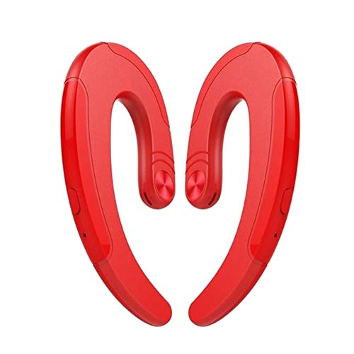 B5645ells Sports-Kopfhörer mit Mikrofon 1 / 2Pcs Ergonomische Freisprecheinrichtung für kabellose Bluetooth-Ohrbügel - Rot beidseitig