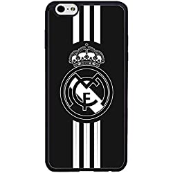 La Liga Real Madrid Football Funda Case for IPhone 6 6S 4.7inch, Football Club Logo IPhone 6S Funda Case, La Liga Real Madrid Football Logo Logo Pattern Waterproof Shell