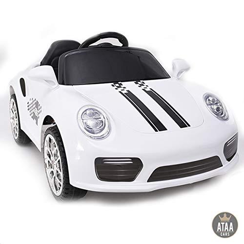 ATAA CARS Booster Batterie 6v - Blanc - Voiture électrique pour Enfants avec télécommande - Bon marché-