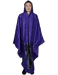 sourcingmap® PVC Hooded Motorcycle Raincoat Rain Shadow Poncho Purple