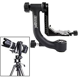 Sevenoak SK-GH01 Tête de trépied professionel Gimbal avec plaque à déclenchement rapide Arca-Swiss pour Canon Nikon Sony Pentax Olympus Sigma Gopro DSLR Caméra Mini Caméscopes