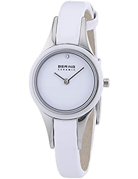 Bering Time Damen-Armbanduhr XS Ceramic Analog Quarz Leder 33125-654