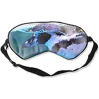 Schlafmaske aus Naturseide, Augenbinde, super glatte Augenmaske (Pinguin-tauchen) preisvergleich bei billige-tabletten.eu