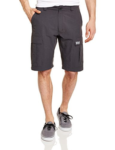 "Red Helly Hansen Herren Shorts Qd 11 "" Grau (Ebony/Wasabi/Light Grey)"
