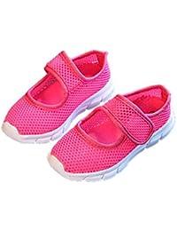 Tinta Unita Sandali Unisex Velcro Scarpe per Bambini Traspirante Scarpe  Basse Slittata Sandali All aperto Ragazzo Sandali Spiaggia di… 729f7c4eb9d