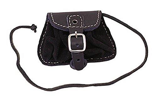 Gürteltasche klein Umhängetasche LARP Gürteltasche Hüfttasche Schwarz oder Braun (Schwarz)