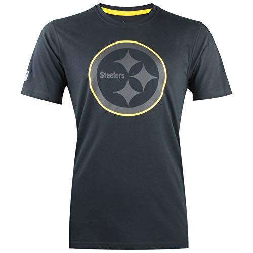 New Era NFL Fan Pack Two Tone Collection NFL Team Logo T-Shirt American Football Streetwear mit 7kmh Pittsburgh Steelers XXL