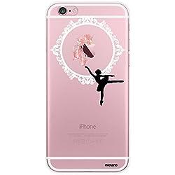Evetane Coque Compatible avec iPhone 6 iPhone 6S Transparente Rigide Solide Danseuse Ballet Ecriture Motif Tendance