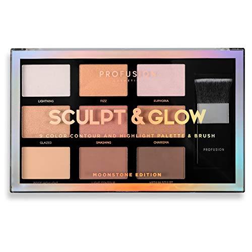 Profusion Cosmetics - Palette de contour et de surbrillance 9 couleurs, Moonstone