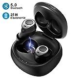 Ecouteurs sans fil bluetooth, Mpow T3 Ecouteurs IPX7/CVC8.0/25H/Bluetooth 5.0/Stéréo-Mono Ecouteurs Bluetooth sans fil Sport...
