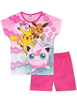 Pokèmon Pijamas de Manga Corta para niñas Pikachu y Jigglypuff por FZBOCK