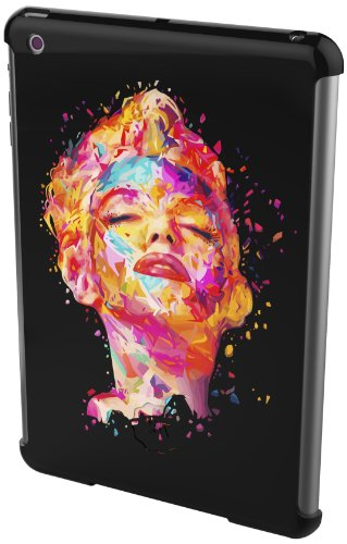 twentyfiveseven Slim Hard Case, Marilyn, schwarz Harte Rückseite Schutzhülle mit Smart Cover für iPad Mini schwarz, Grafiken, Marilyn (schwarz)