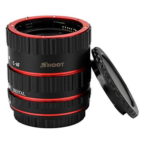 Dailyinshop XT-364 3pcs Auto Focus Macro Extension Tube Set for Canon EF/EF-S Lens,Black - Canon Eos Extension Tubes