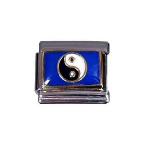 Italian Charms Modul Yin-Yang auf blauem Grund ...by Kult-Schmuck