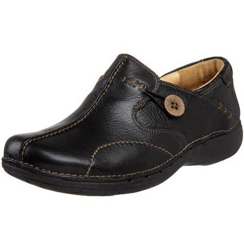 Clarks Un. Loop Womens Black Leather