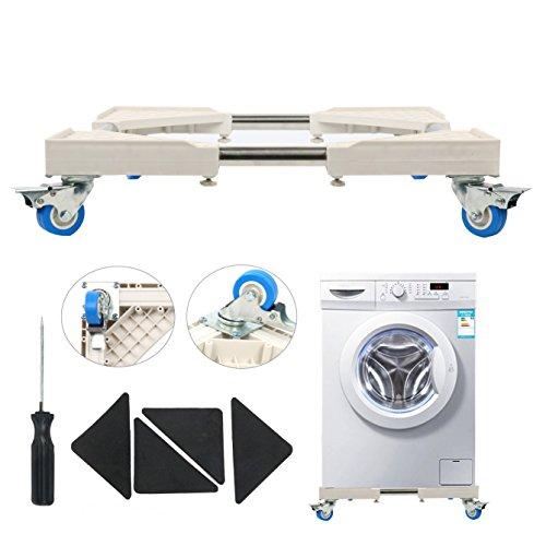yaetek Multifunktions-bewegliche Boden mit 4x drehbarem Gummi Räder Handytasche Roller Dolly für Waschmaschine, Trockner und Kühlschrank