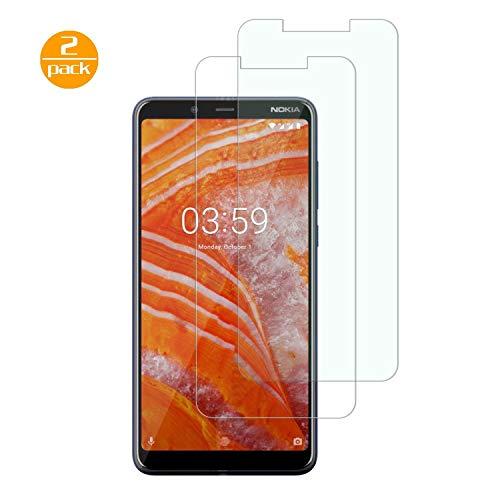 [2 Pack] Für Nokia 3.1 Plus Panzerglas Schutzfolie (Transparent), Bildschirmschutzglas Panzerfolie für Nokia 3.1 Plus Schutzglas Folie [Ultra-klar] [9H Härte] [Kristallklar] [Bubble Free]