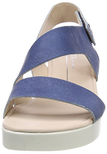 Ecco Damen Touch Peeptoe Sandalen Blau (Indigo 5 1321)