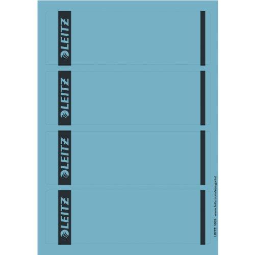 Preisvergleich Produktbild Leitz 16852035 Rückenschild selbstklebend PC, Papier, kurz, breit, 100 Stück, blau