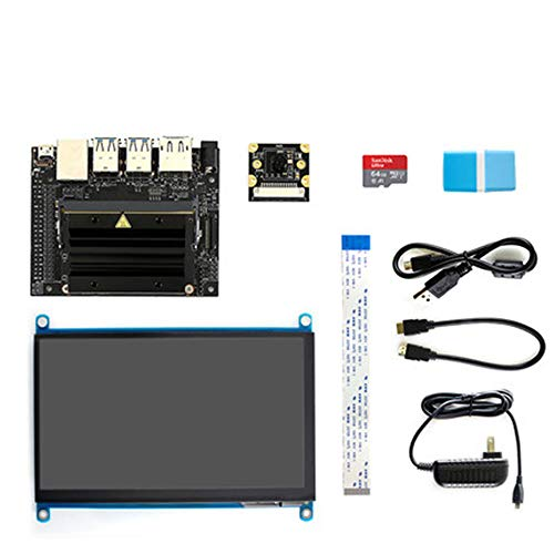 Ruyn NVIDIA Jetson Nano Developer Kit Small Powerful Computer with 7inch  IPS Capacitive Touch Display IMX219-77 Camera Board TF Card for AI