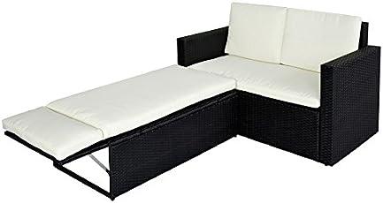 POLY RATTAN Lounge Garten Set Sofa Garnitur Gartenmöbel Couch
