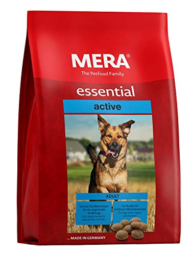 MERA Essential Hundefutter Active, Trockenfutter mit schmackhaftem Geflügel für ausgewachsene Hunde mit erhöhter Aktivtät, 1er Pack (1 x 12.5 kg)