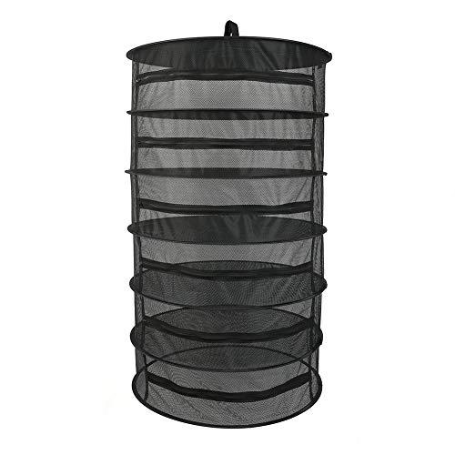 Ritapreaty Balkon-Mesh-Trockennetz, Pflanzentrockennetz-Reißverschluss 6 Schichten Korb Atmungsaktiv Langlebig Closed Pull Rack 60 X 150 cm -