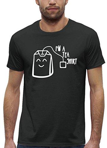 Lustiges Premium Herren T-Shirt aus Bio Baumwolle mit I'm A Tea Shirt Stanley Stella Anthrazite