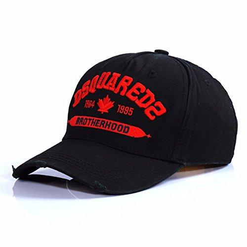 HYP@Baseball Cap/Baseballkappe/Trucker Cap/Trucker Hat/Golf Sport Outdoor Kappe Mütze CapCotton Cap Stickerei, schwarz, verstellbar