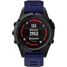 Bestow Garmin Fenix 5X Reloj GPS Reloj de Pulsera de Silicona de reemplazo Suave Correa de