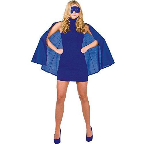 Neue Satin-Superhelden-Cape & Maske für Erwachsene-Zubehör für Erwachsene, (Masken Superhelden Weibliche)