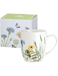 Gilde taza de porcelana - Flores silvestres - flores - diseño de la mariposa