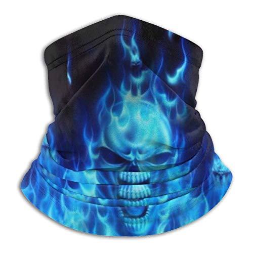 N/a scaldacollo multifunzione in pile - tubo reversibile - maschera leggera antivento antipolvere, teschio fiamma, taglia unica