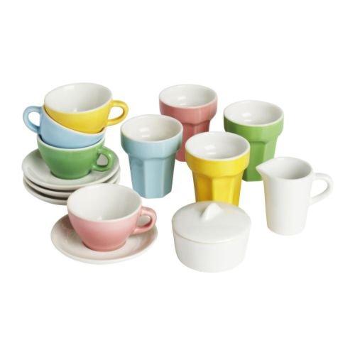 Ikea DUKTIG - 10 Piezas de café/Juego de té, Multicolor